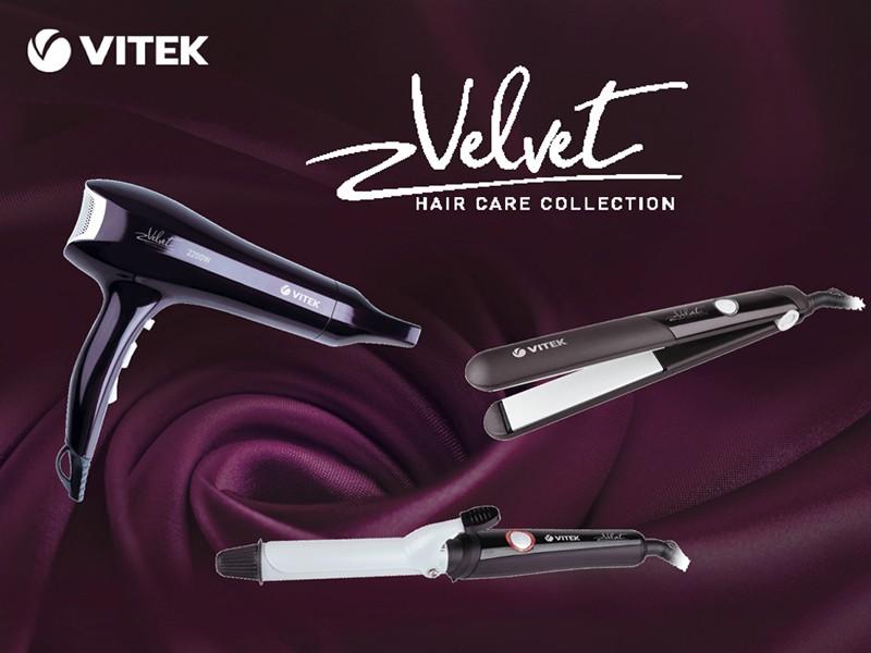VITEK представляет новую эксклюзивную коллекцию приборов для укладки волос VELVET